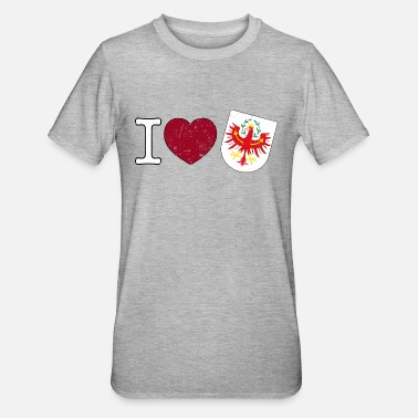 I Love Tirol I love Tirol coat of arms Austria eagle gift - Unisex Polycotton T-Shirt