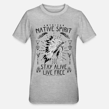 Native Damen T-Shirt Indianer Wolf Adler Totem Biker Cowboy USA