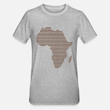 Africa Africa / / Africa map / / Abstract / / lines - Unisex Polycotton T-Shirt