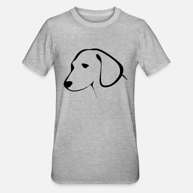 Dog Head dog head - Unisex Polycotton T-Shirt