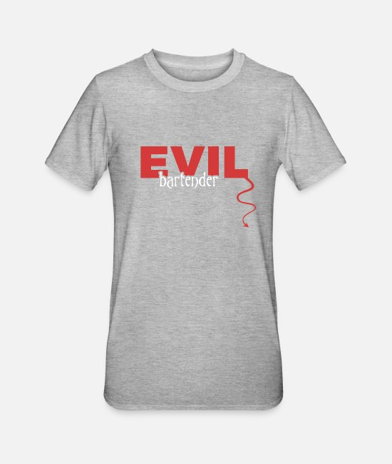 Owner T-Shirts - evil - Unisex Polycotton T-Shirt heather grey