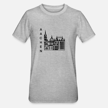 Cologne Cathedral City of Aachen, cathedral, lineart - Unisex Polycotton T-Shirt