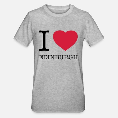 Edinburgh I LOVE EDINBURGH - Unisex Polycotton T-Shirt