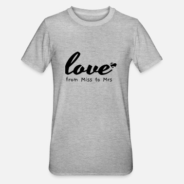 Standesamt love from miss to mrs - Unisex Polycotton T-Shirt
