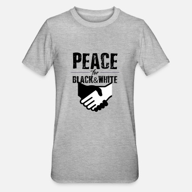 peace with hands 5 000px - Unisex Polycotton T-Shirt