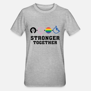 Gay Rights Stronger Together - Unisex Polycotton T-Shirt