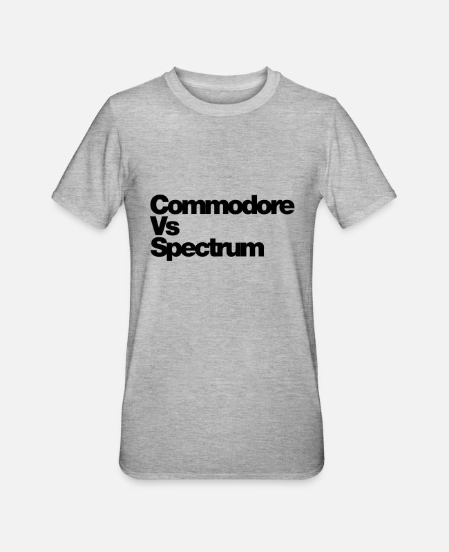 Play T-Shirts - commodore_v_spectrum - Unisex Polycotton T-Shirt heather grey