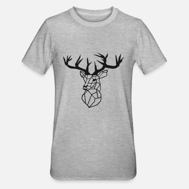 Tessellation Minimalistic - Deer / stag - Unisex Polycotton T-Shirt