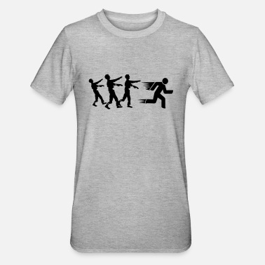 Fromm Run From Zombies - Unisex polycotton T-shirt