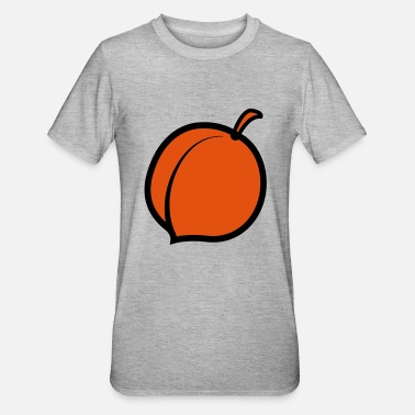 Vegetable a single peach with stem - Unisex Polycotton T-Shirt