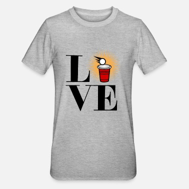 Beerpong BeerPong Love Love Beer Pong - T-shirt polycoton Unisexe