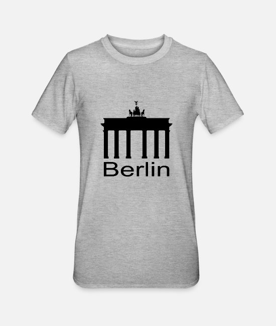 Television Tower T-Shirts - Brandenburg Gate - Berlin - Unisex Polycotton T-Shirt heather grey