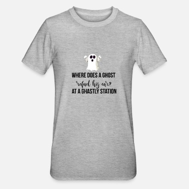 Ghastly Where does a ghost refuel his car? - Unisex Polycotton T-Shirt