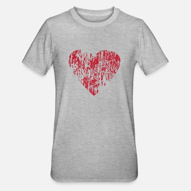 Distressed Distressed Heart - Unisex Polycotton T-Shirt