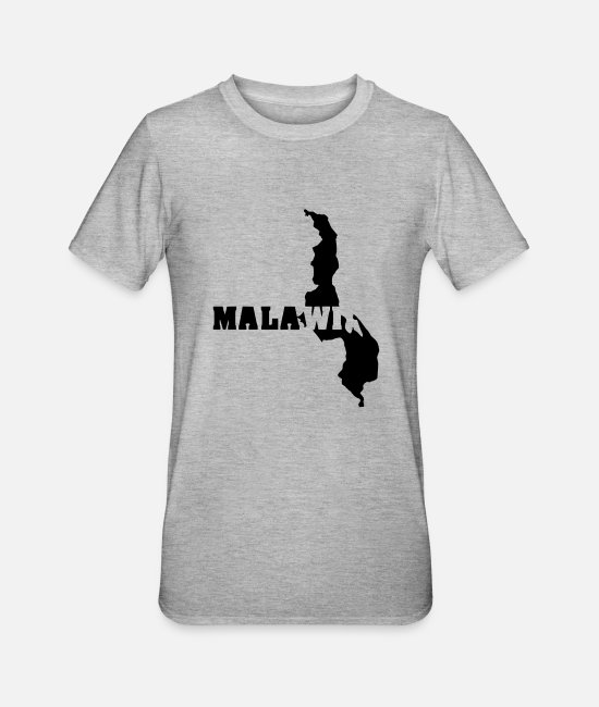 Malawi T-Shirts - Malawi (ID: 002004) - Unisex Polycotton T-Shirt heather grey
