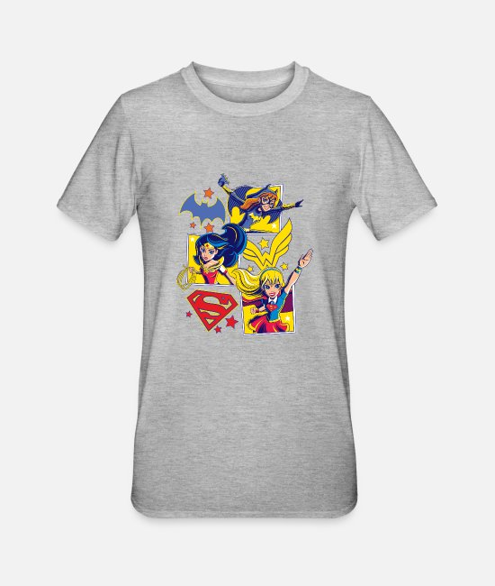 TV T-Shirts - DC Super Hero Girls Batgirl Wonder Woman Supergirl - Unisex Polycotton T-Shirt Grau meliert