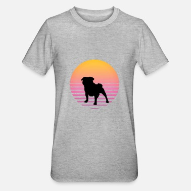 Paw Dog sunset gift summer beach pug - Unisex Polycotton T-Shirt