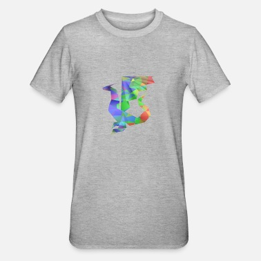 Dragon blauwgroen - Unisex Polycotton T-shirt