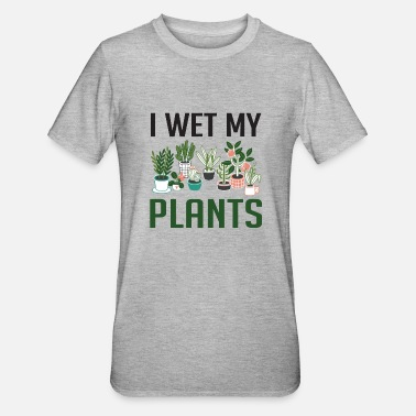 Store I Wet My Plants Funny Plant Lover Girls T Shirt - Unisex polycotton T-shirt
