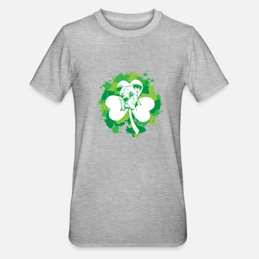 San Boxer Dog Saint Patricks Day Funny Gift for Dog Lo - Unisex Polycotton T-Shirt