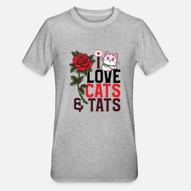 Book Children I love cats and tats - Unisex Polycotton T-Shirt