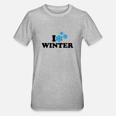 I Love Winter I love winter - Unisex Polycotton T-shirt