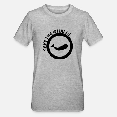 Save The Whales save the whales - Unisex Polycotton T-skjorte