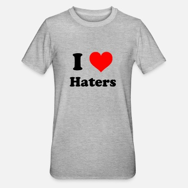 I Love Haters love haters - Polycotton-T-shirt unisex