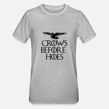 Throne Crows Before Hoes - Unisex Polycotton T-Shirt