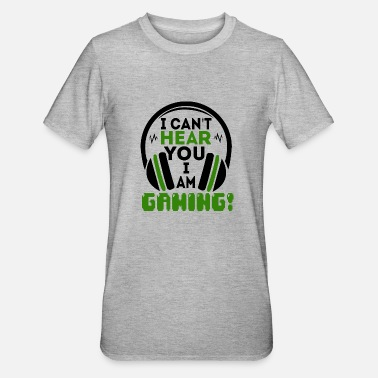 Action FUNNY GAMER MOTTO SHIRT GAMING PLAYER JOYSTICK - Unisex Polycotton T-Shirt