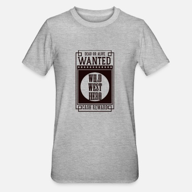 Orchestra WANTED DEAD OR ALIVE - WILD WEST HERO Black - Unisex Polycotton T-Shirt