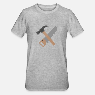 Saw Hammer and saw - Unisex Polycotton T-Shirt