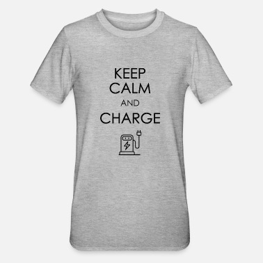 Cable Car Keep calm and charge dark - Unisex Polycotton T-Shirt