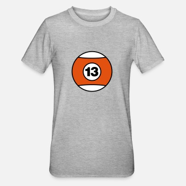Billiard Ball Number 13 - V3 - Unisex Polycotton T-Shirt