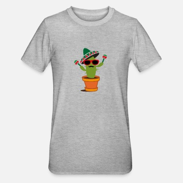 Sombrero Cactus with sombrero and maracas - Unisex Polycotton T-Shirt