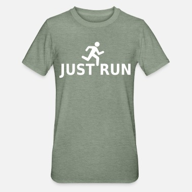 Just run - Unisex Polycotton T-Shirt