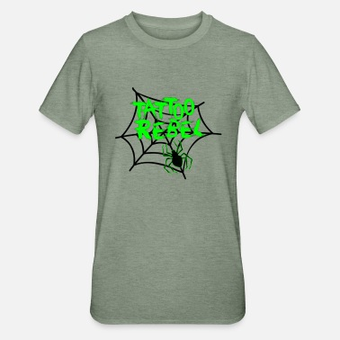Tattoo Rebel Green Spider - Unisex Polycotton T-shirt