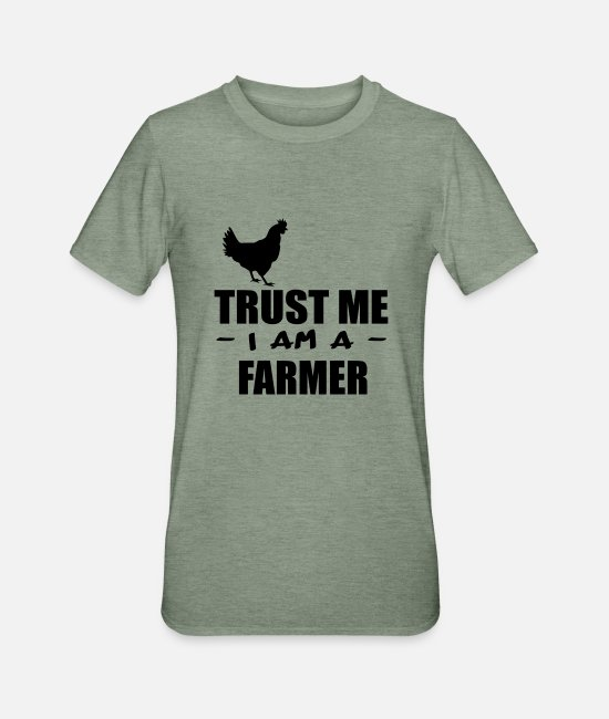 Rural T-Shirts - trust me i m a farmer 4 - Unisex Polycotton T-Shirt heather military green