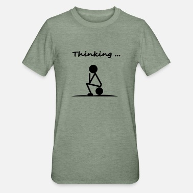 Thinking thinking - Unisex Polycotton T-Shirt