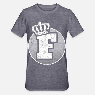 Stylish Stylish letter F with crown - Unisex Polycotton T-Shirt