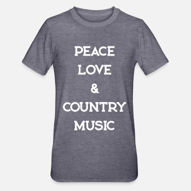 Countrymusic PEACE LOVE COUNTRYMUSIC - Unisex Polycotton T-Shirt