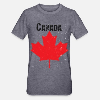 Grungy Grungy Maple leaf design - Unisex Polycotton T-Shirt