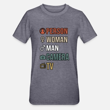 Camera Person Woman Man Camera TV - Unisex Polycotton T-Shirt