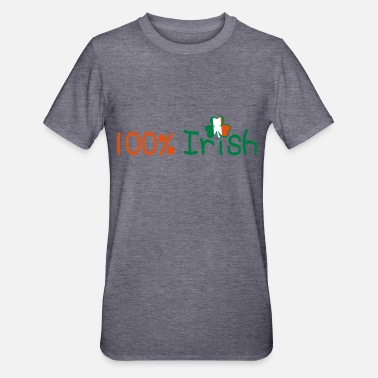 I Want To Marry Irish I Want To Have A Irish Girlfriend Irish Boyfriend Irish Husband Irish Wife Iri ♥ټ☘Kiss Me I'm 100% Irish-Irish Rule☘ټ♥ - Unisex Polycotton T-Shirt