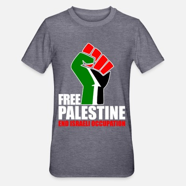 Gaza Free Palestine end Israeli Occupation - Unisex Polycotton T-Shirt