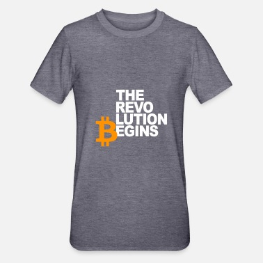 Revolution Revolutionen Begins - Bitcoin cryptocurrency - Unisex polycotton T-shirt