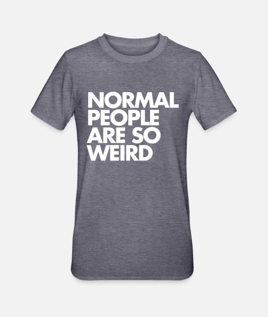 Cool T-shirts - Normal People - Polycotton-T-shirt unisex marinblåmelerad