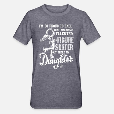 Figure Figure Skating Figure Skating Daughter - Unisex Polycotton T-Shirt
