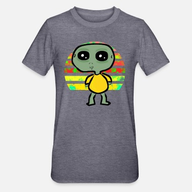 Bulge Alien with bulging eyes in the sunset - Unisex Polycotton T-Shirt