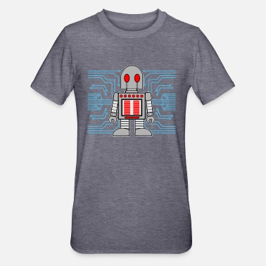 Cyborg ROBOT CARTOON door The Manzanita's - Unisex Polycotton T-shirt